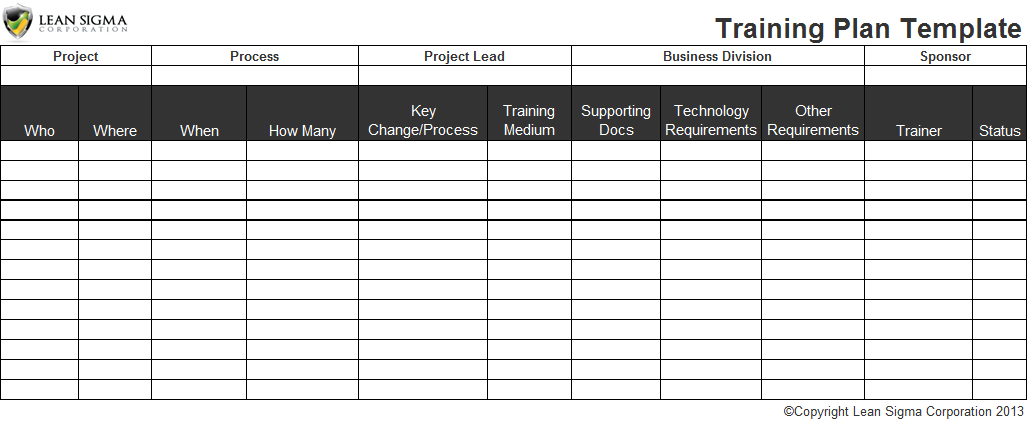 employee training record template excel .