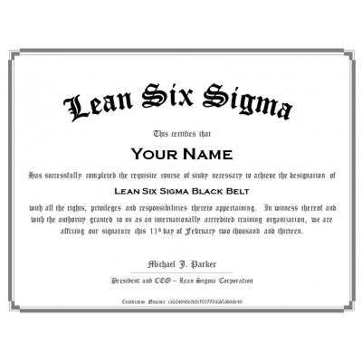 Lean Six Sigma Black Belt Certification Training | Online ...