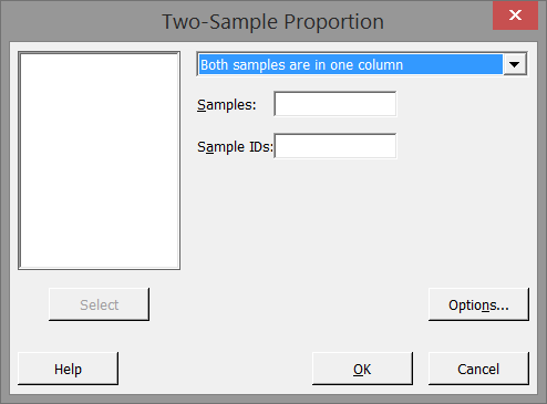 how to find the proportion on minitab