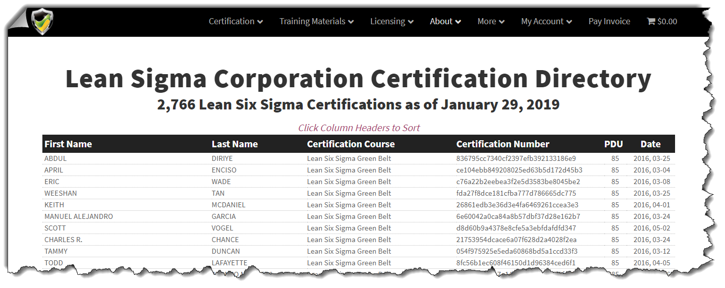 Six Sigma Green Belt Certification Online Limited Time Price 299